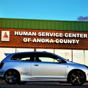 civic in front of human services.JPG